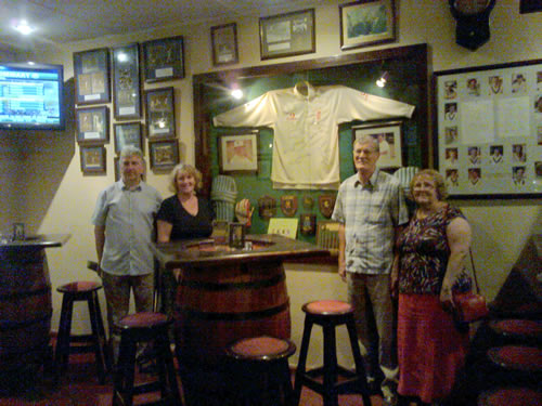 Pat & Garry and Monica and John Kirby at the Cricket Club - specail restaurent for Criket Fans