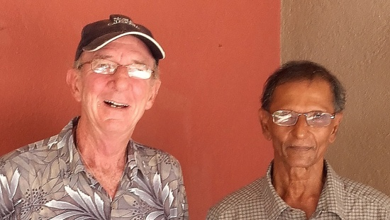 Tony Crocker with Upali during the trip in Sri Lanka
